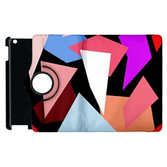 Colorful Geometrical Design Apple Ipad 3/4 Flip 360 Case by Valentinaart