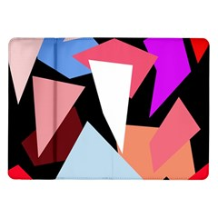 Colorful Geometrical Design Samsung Galaxy Tab 10 1  P7500 Flip Case by Valentinaart
