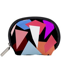Colorful Geometrical Design Accessory Pouches (small)  by Valentinaart