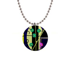 Crazy Abstraction By Moma Button Necklaces