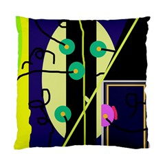 Crazy Abstraction By Moma Standard Cushion Case (two Sides) by Valentinaart