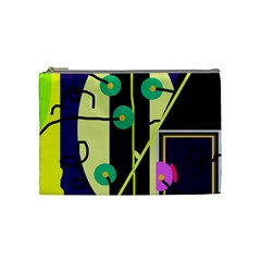 Crazy Abstraction By Moma Cosmetic Bag (medium)  by Valentinaart