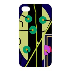 Crazy Abstraction By Moma Apple Iphone 4/4s Hardshell Case by Valentinaart