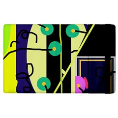 Crazy Abstraction By Moma Apple Ipad 2 Flip Case by Valentinaart