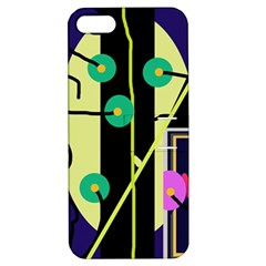 Crazy Abstraction By Moma Apple Iphone 5 Hardshell Case With Stand by Valentinaart