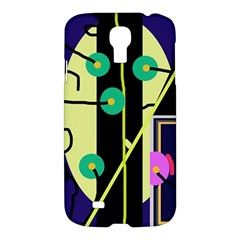 Crazy Abstraction By Moma Samsung Galaxy S4 I9500/i9505 Hardshell Case by Valentinaart