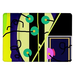 Crazy Abstraction By Moma Samsung Galaxy Tab 10 1  P7500 Flip Case by Valentinaart