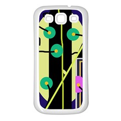 Crazy Abstraction By Moma Samsung Galaxy S3 Back Case (white) by Valentinaart