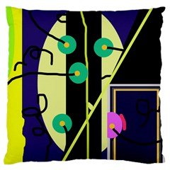 Crazy Abstraction By Moma Standard Flano Cushion Case (one Side) by Valentinaart