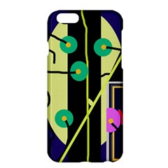 Crazy Abstraction By Moma Apple Iphone 6 Plus/6s Plus Hardshell Case by Valentinaart