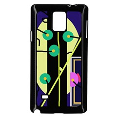 Crazy Abstraction By Moma Samsung Galaxy Note 4 Case (black) by Valentinaart