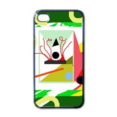 Green Abstract Artwork Apple Iphone 4 Case (black) by Valentinaart