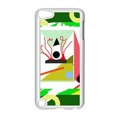 Green Abstract Artwork Apple Ipod Touch 5 Case (white) by Valentinaart