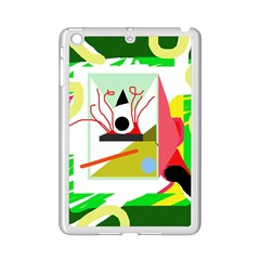 Green Abstract Artwork Ipad Mini 2 Enamel Coated Cases by Valentinaart