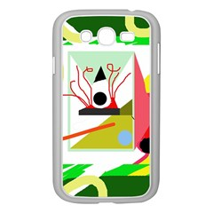 Green Abstract Artwork Samsung Galaxy Grand Duos I9082 Case (white) by Valentinaart