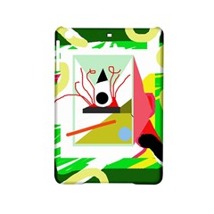 Green Abstract Artwork Ipad Mini 2 Hardshell Cases by Valentinaart