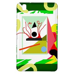 Green Abstract Artwork Samsung Galaxy Tab Pro 8 4 Hardshell Case by Valentinaart