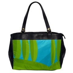 Green And Blue Landscape Office Handbags by Valentinaart