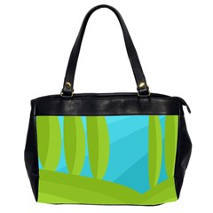 Green And Blue Landscape Office Handbags (2 Sides)  by Valentinaart