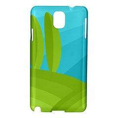 Green And Blue Landscape Samsung Galaxy Note 3 N9005 Hardshell Case by Valentinaart