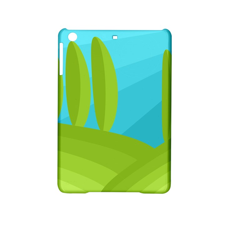Green and blue landscape iPad Mini 2 Hardshell Cases