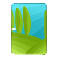 Green And Blue Landscape Samsung Galaxy Tab Pro 12 2 Hardshell Case by Valentinaart