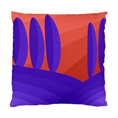 Purple And Orange Landscape Standard Cushion Case (two Sides) by Valentinaart