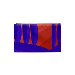 Purple And Orange Landscape Cosmetic Bag (small)  by Valentinaart