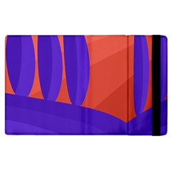Purple And Orange Landscape Apple Ipad 3/4 Flip Case by Valentinaart