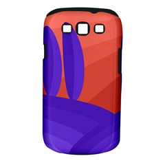 Purple And Orange Landscape Samsung Galaxy S Iii Classic Hardshell Case (pc+silicone) by Valentinaart