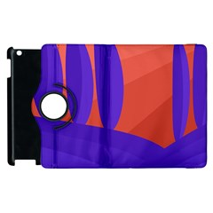 Purple And Orange Landscape Apple Ipad 3/4 Flip 360 Case by Valentinaart