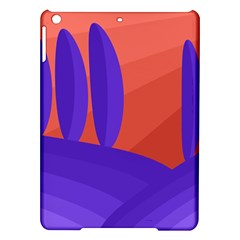 Purple And Orange Landscape Ipad Air Hardshell Cases by Valentinaart