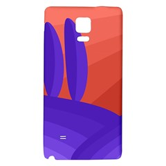 Purple And Orange Landscape Galaxy Note 4 Back Case by Valentinaart