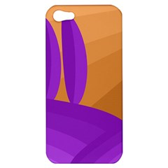 Orange And Purple Landscape Apple Iphone 5 Hardshell Case by Valentinaart