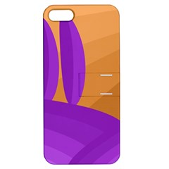 Orange And Purple Landscape Apple Iphone 5 Hardshell Case With Stand by Valentinaart