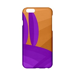 Orange And Purple Landscape Apple Iphone 6/6s Hardshell Case by Valentinaart