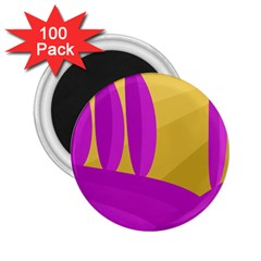 Yellow And Magenta Landscape 2 25  Magnets (100 Pack)