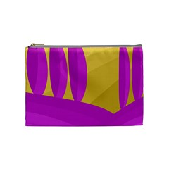 Yellow And Magenta Landscape Cosmetic Bag (medium)  by Valentinaart