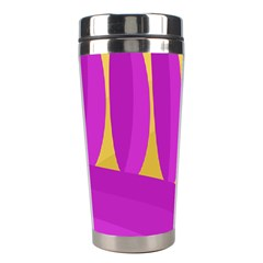 Yellow And Magenta Landscape Stainless Steel Travel Tumblers