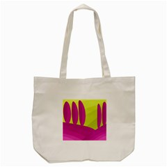 Yellow And Pink Landscape Tote Bag (cream) by Valentinaart