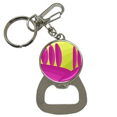 Yellow And Pink Landscape Bottle Opener Key Chains by Valentinaart