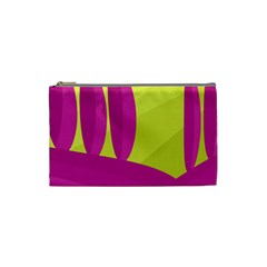 Yellow And Pink Landscape Cosmetic Bag (small)  by Valentinaart