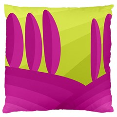 Yellow And Pink Landscape Standard Flano Cushion Case (two Sides) by Valentinaart