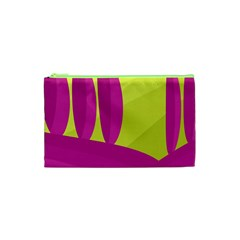 Yellow And Pink Landscape Cosmetic Bag (xs) by Valentinaart