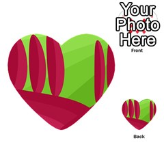 Green And Red Landscape Multi Purpose Cards (heart)