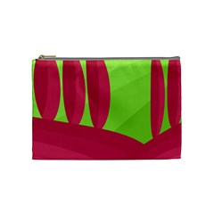 Green And Red Landscape Cosmetic Bag (medium)  by Valentinaart