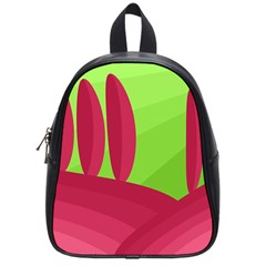 Green And Red Landscape School Bags (small)