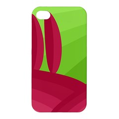 Green And Red Landscape Apple Iphone 4/4s Premium Hardshell Case by Valentinaart