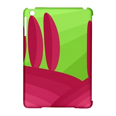 Green And Red Landscape Apple Ipad Mini Hardshell Case (compatible With Smart Cover) by Valentinaart