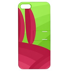 Green And Red Landscape Apple Iphone 5 Hardshell Case With Stand by Valentinaart
